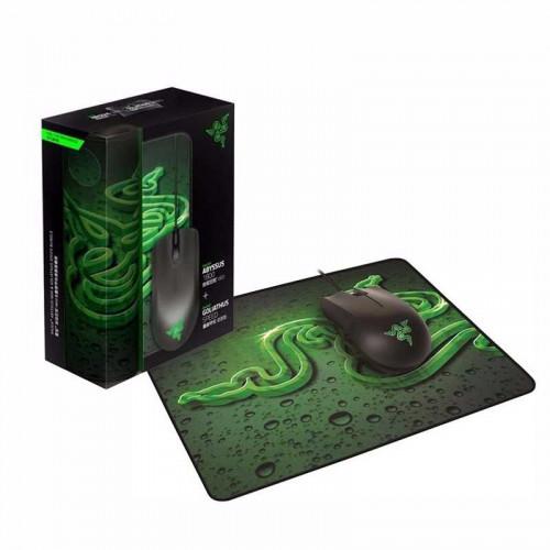 Set de alfombrilla y mouse alámbrico Razer 2000