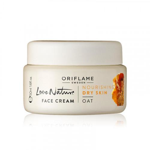 Crema facial hidratante con extracto de avena