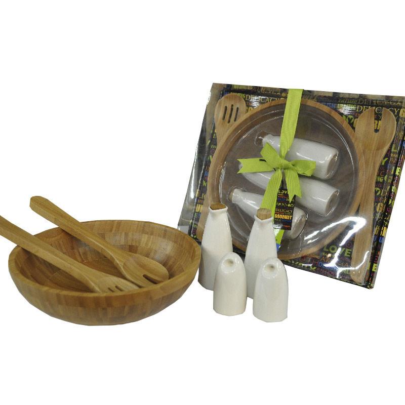 Set de utensilios y ensaladera