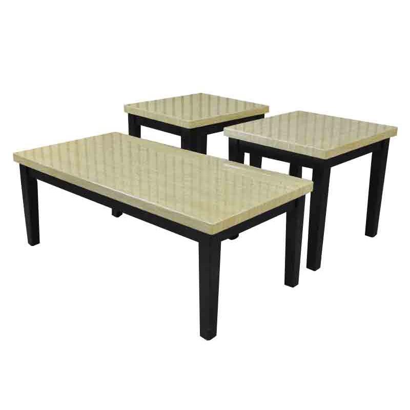 Set 3 mesas de centro estilo mármol