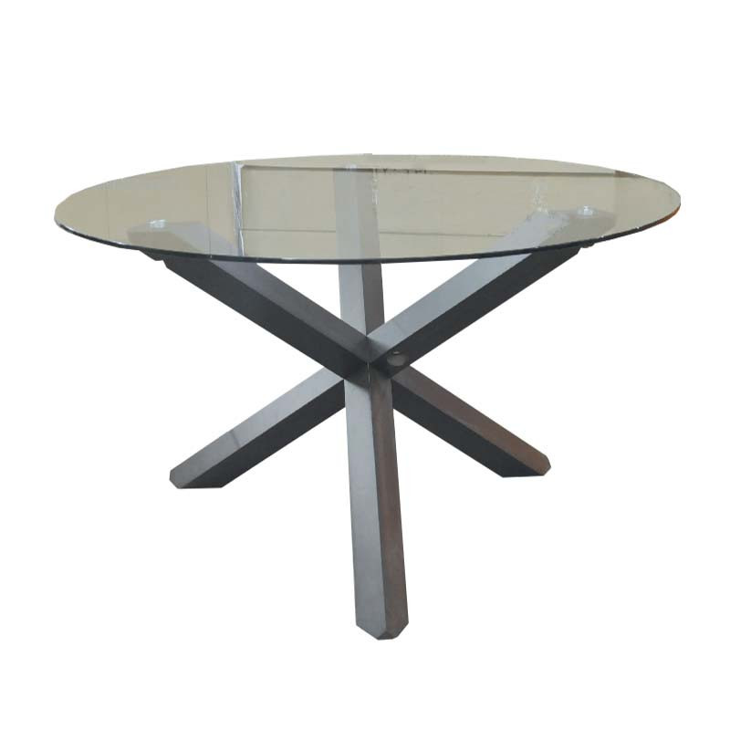 Mesa para comedor de vidrio redonda - 8 personas