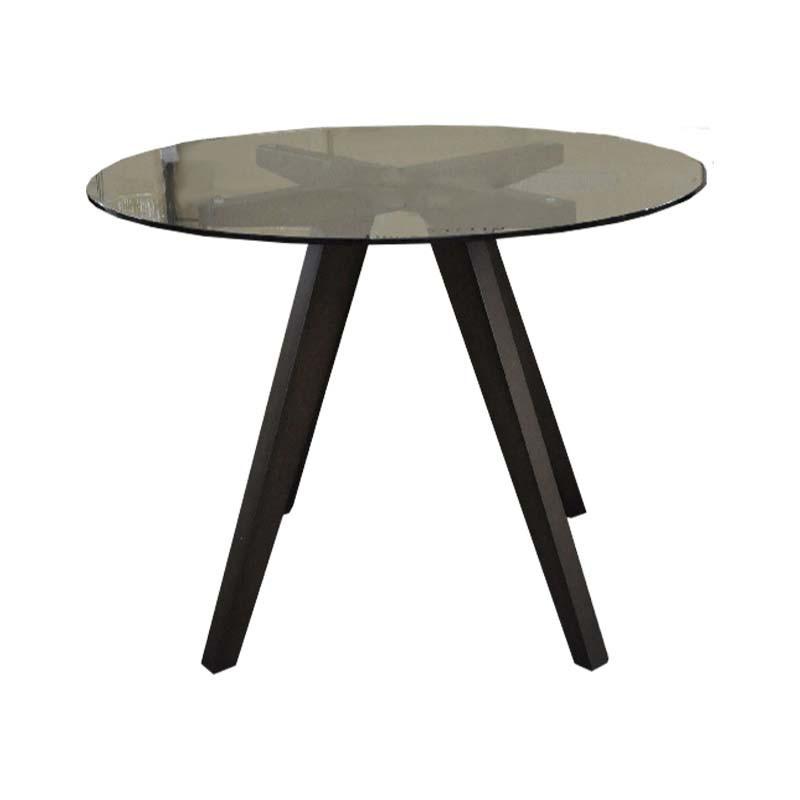 Mesa para comedor de vidrio redonda - 4 personas