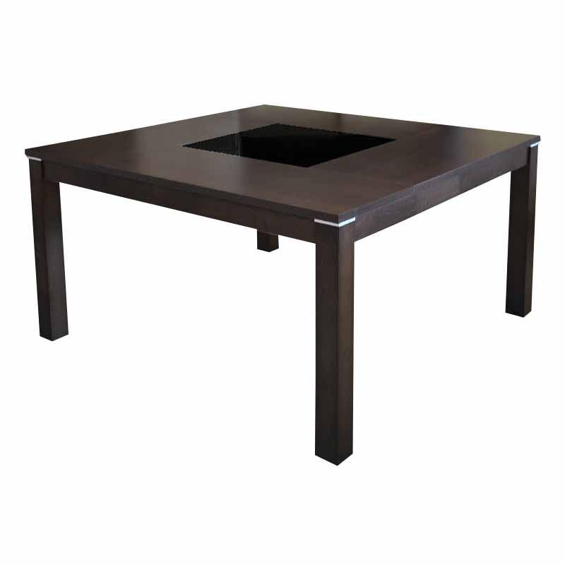 Mesa para comedor de madera cuadrada - 8 personas