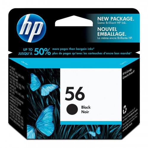 Cartucho de tinta Hp C6656al - negro 56