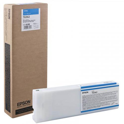 Cartucho de tinta epson T636200 cián 700ml