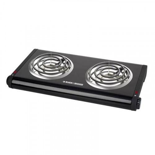 Estufa eléctrica de 2 hornillas Black & Decker