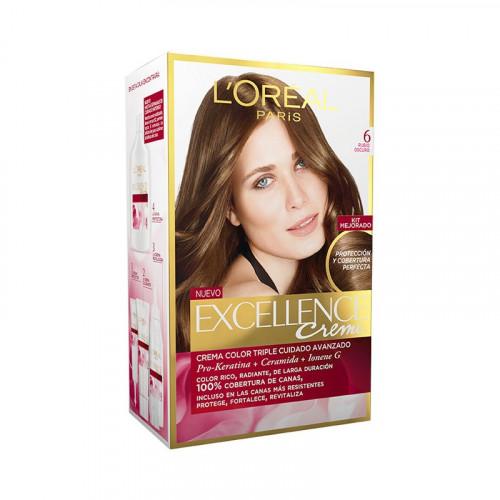 Tinte para el cabello Excellence - Tono rubio oscuro 6.0