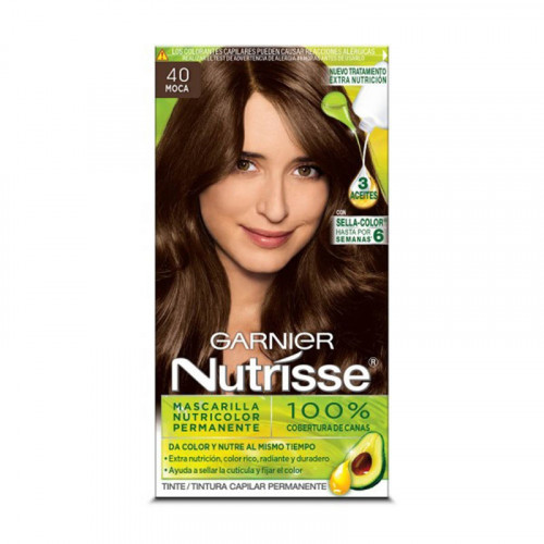 Tinte para el cabello Nutrisse - Tono moca 40