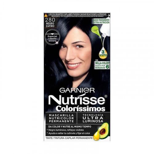 Tinte para el cabello Nutrisse - Tono negro zafiro 280