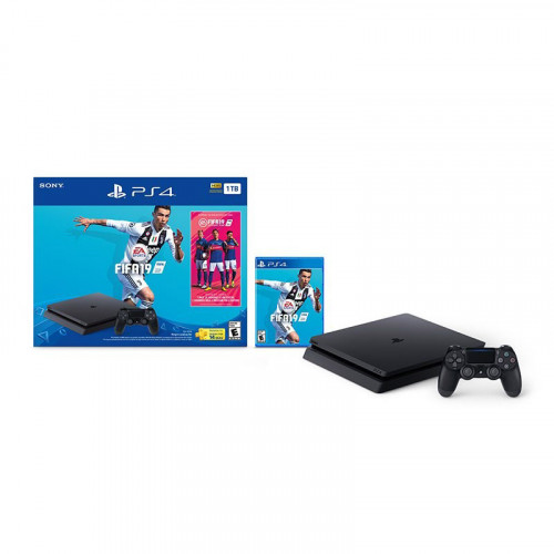 Consola playstation slim de 1Tb - Juego PS4 FiFa 2019