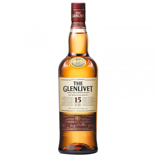 Whisky The Glenlivet 15 Años 750ml