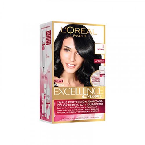 Tinte para el cabello Excellence - Tono negro 1