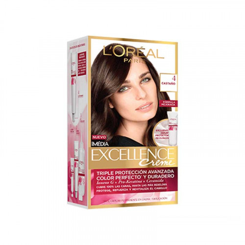 Tinte para el cabello Excellence - Tono castaño 4