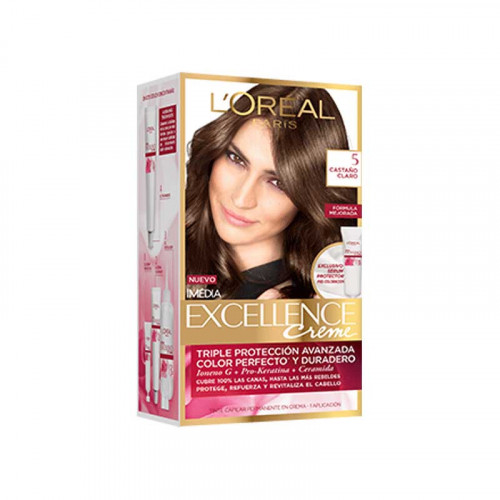 Tinte para el cabello Excellence - Tono castaño claro 5
