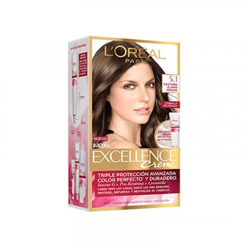 Tinte para el cabello Excellence - Tono castaño claro cenizo 5.1