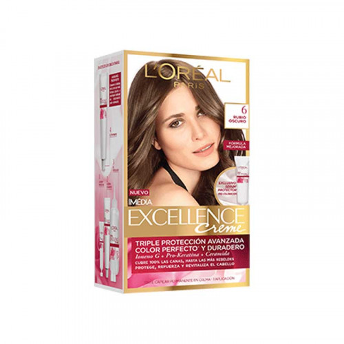 Tinte para el cabello Excellence - Tono rubio oscuro 6