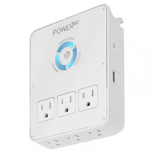 Protector de picos eléctricos panamax con 6 tomas AC y 2 tomas USB protegidos