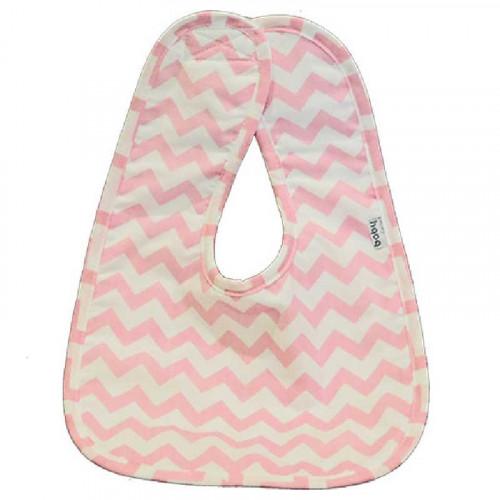 Babero con estampado zigzag rosado pastel