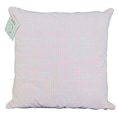 Cojín de seda rosado pastel para bebé