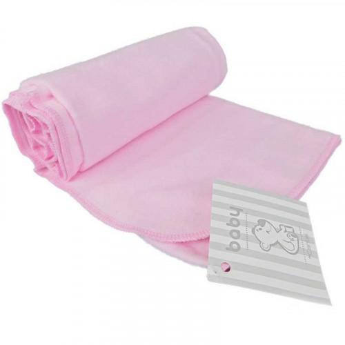 Mantilla de franela rosado para bebé