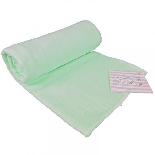 Mantilla de franela verde menta para bebé