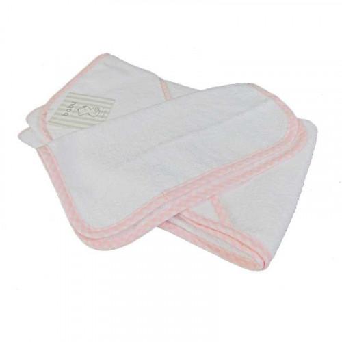 Toalla de baño rosada para bebé