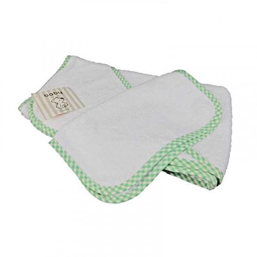 Toalla de baño verde menta para bebé