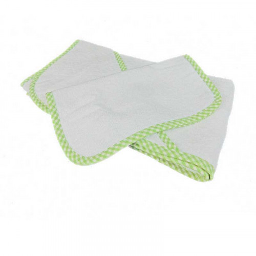 Toalla de baño verde lima para bebé