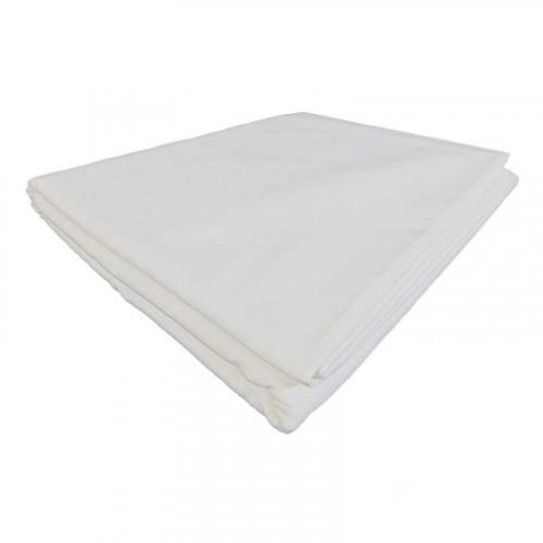 Mantel Redondo Blanco Para 12 Personas