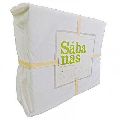 Sábana Blanca De Algodón Matrimonial Set De