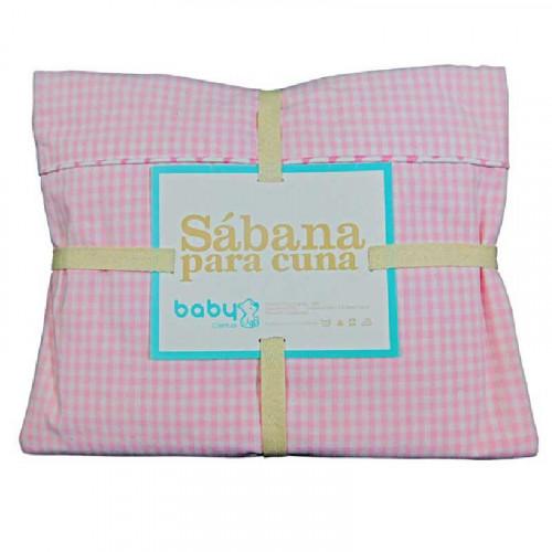 Set de 3 sábanas rosadas pastel para bebé