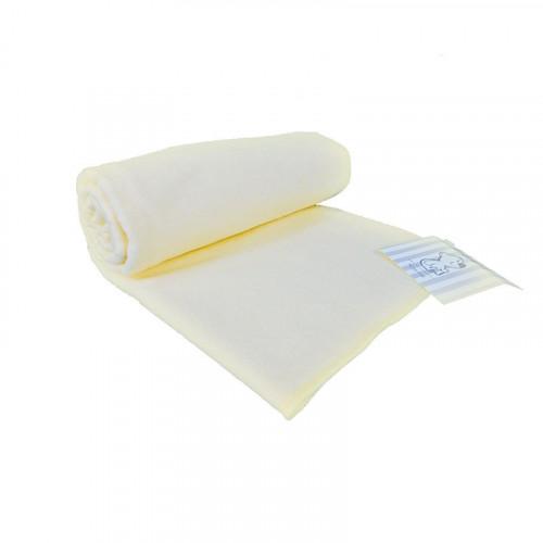 Mantilla de franela amarilla para bebé