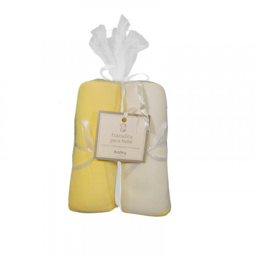 Set doble de frazadas amarillas pastel de franela para bebé