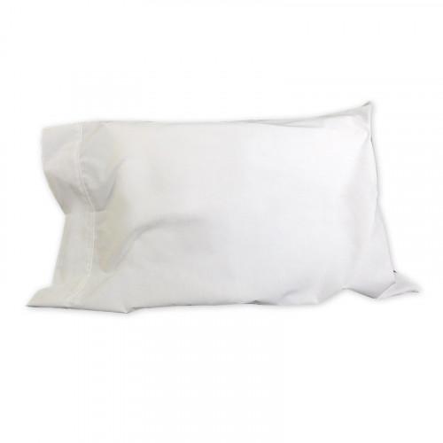 Sobrefunda de tela blanca con orilla para bebé