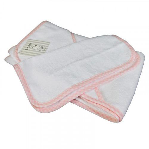 Toalla de baño rosado pastel para bebé