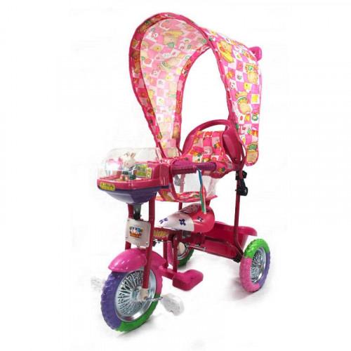 Triciclo musical con tapasol